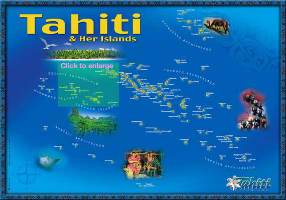 Looking for Nemo Expedition - French Polynesia Map