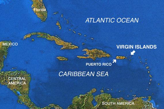 Reefs Wrecks Pirates Expedition Caribbean Map - Caribbean sea map