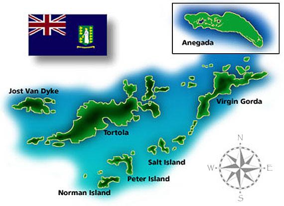 Reefs Wrecks and Pirates Expedition British Virgin Islands Map – Map Usvi
